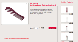 Keranique Anti-breakage Detangling Comb